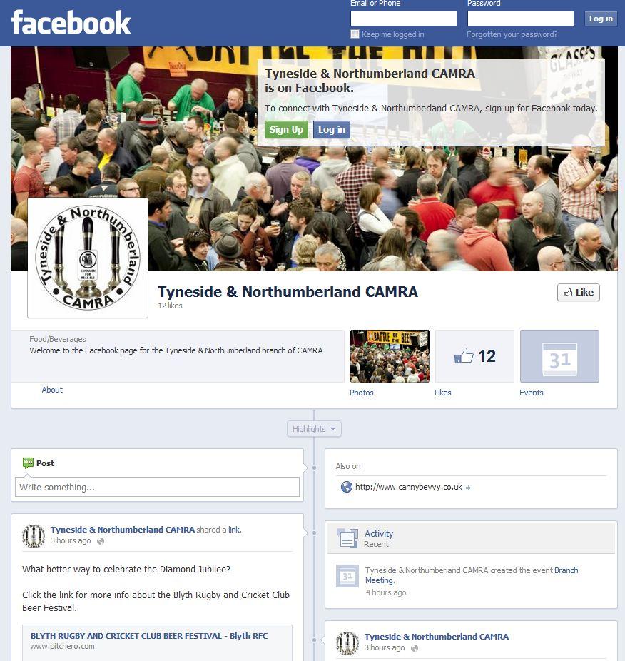 Branch Facebook page